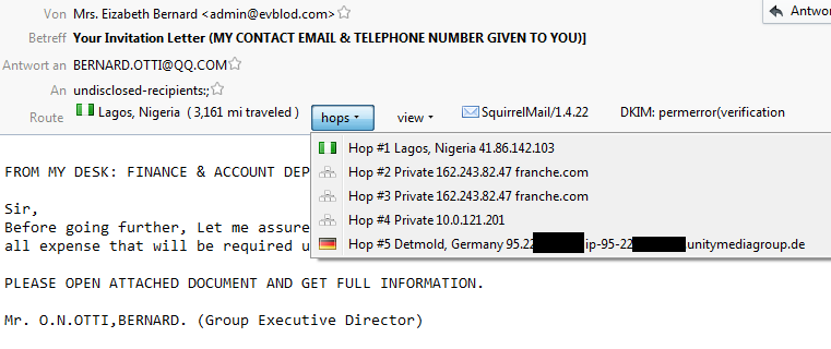 MailHops Spammail